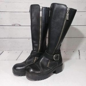 Harley Davidson Tall Motorcycle Leather Boots 5.5